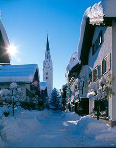 Tiefverschneites Oberstdorf