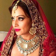 Grand Finale for ICW 2014 - Bipasha Basu in bridal jewellery by Shreerajmahal jewellers