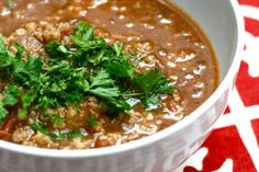 Kharcho, a hearty and savory meat and tomato soup from the Georgia region.