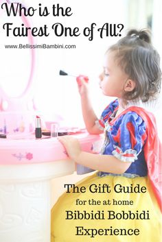 Create your own Bibbidi Bobbidi Experience at home with this Princess Gift Guide! Perfect for Christmas!  Bellissimi Bambini