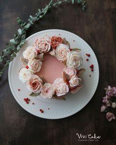 두번째 레드벨벳  폭신st. . . . . Buttercream flowercake Made by_vivi