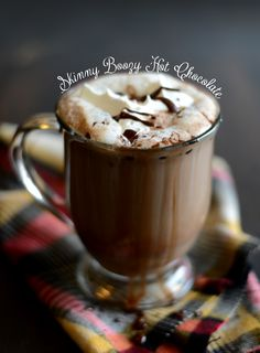Boozy Skinny Hot Chocolate by fit foodiefinds: Leave out the booze and you'll  still get an amazing skinny hot chocolate that's even less calories… 30 calories to be exact!  #Hot_Chocolate #Light