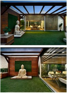 terrace garden rooftop In order to have an excellent Modern Garden Decoration, it is useful to be ready to … Rooftop Terrace Design, Terrace Garden Design, Rooftop Garden, Balcony Design, Patio Design, House Design, Terrace Ideas, Garden Ideas, Balcony Garden