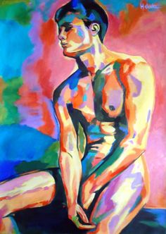 "Saatchi Art Artist Helena Wierzbicki; Painting, ""Pensive boy"" #art"