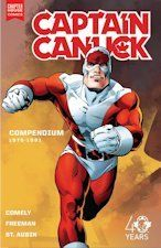 Captain Canuck compendium 1975-1981 / Richard Comely. Canada's greatest superhero is available once more in this restored collection of issues 1-15, including the Summer Special and the 2014 wrap-up story. The scripting and art can be unpolished, but the colours, designs and concept are great. Return to a future 1990s where Canada is a world power, its top agent a man granted incredible powers by a chance alien encounter--Captain Canuck! Watch his jaw become more square in every issue!