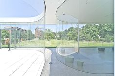 transparent Glass Pavilion at the Toledo Museum of Art | architecture by SANAA Pritzker Prize 2010