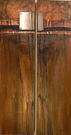 """CAROL NELSON FINE ART BLOG: Mixed Media Geological Abstract Painting """"Mineshaft"""" by Colorado Mixed Media Artist Carol Nelson"""