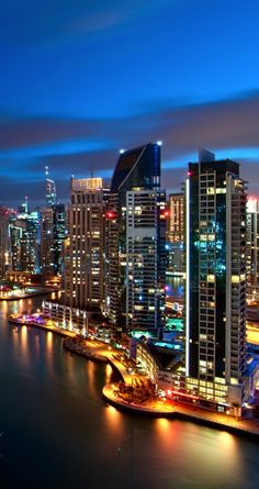 Dubai in the United Arab Emirates! World's Most Beautiful, Beautiful World, Beautiful Places, Abu Dhabi, Places Around The World, Around The Worlds, Night City, Beach Resorts, Far Away