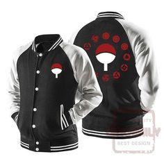 Naruto Hoodie - Uchiha Clan Sharingan Zip Up Hoodie - Jacket Anime Jacket, Anime Outfits, Mandarin Collar, Vest Jacket, Stylists, Mens Fashion, Hoodies, Casual, Varsity Jackets