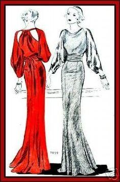 Love the back of the left style! McCall 7959 after Lanvin 1930s Fashion, Fashion 101, Retro Fashion, Vintage Fashion, Womens Fashion, Ladies Fashion, Fashion Outfits, Edwardian Fashion, Fashion Spring
