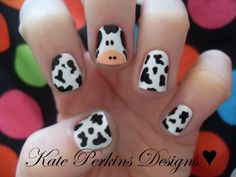 cow crafts | Beach Beauty: Cow Print Toes