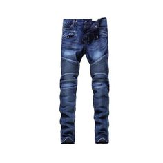 Skinny Zipper Embellished Biker Jeans ($38) ❤ liked on Polyvore featuring jeans, blue jeans, embellish jeans, super skinny jeans, zipper fly jeans and biker jeans