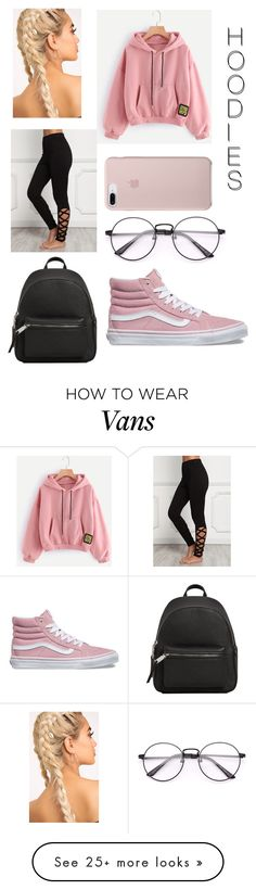 """Untitled #28"" by renae-xoxo on Polyvore featuring Vans, MANGO and Hoodies"