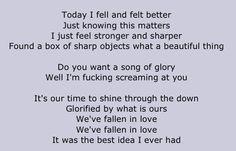The Used Lyrics | A Box Full of Sharp Objects