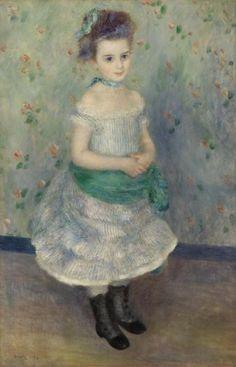 Love this.  The wallpaper is sweet!    Pierre-Auguste Renoir - Portrait of Jeanne Durand-Ruel (Portrait de Mlle. J.)