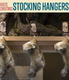 How To Make Rustic DIY Stocking Hangers | Christmas Craft Ideas