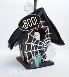 Haunted Halloween Birdhouse and Video with Rachel - Faber-Castell Design Memory Craft