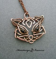 Wire wrapped cat