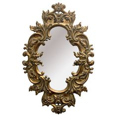 Imagination Mirrors The Lion Framed Mirror in Antique Gold