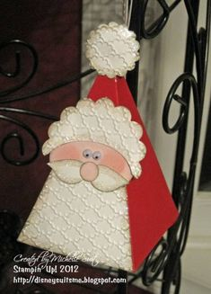 Petal Cone Santa Treat Holder by pixiedustmom - Cards and Paper Crafts at Splitcoaststampers