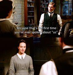 sybil and branson- Downton Abbey