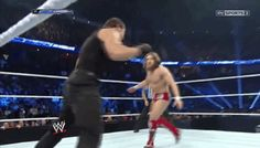 Dean Ambrose being a little stinker as he goes in for a tag [Gif]