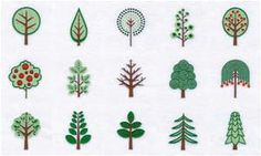 embroidery tree pattern - Bing Images