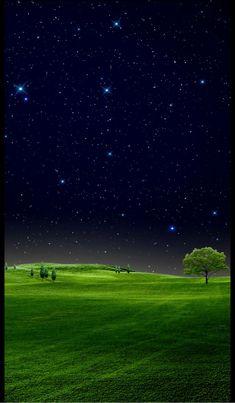 Beautiful Lanscape of Nature Night Sky Wallpaper, Scenery Wallpaper, Galaxy Wallpaper, Nature Wallpaper, Wallpaper Backgrounds, Field Wallpaper, Wallpaper Art, Beautiful Nature Pictures, Beautiful Moon