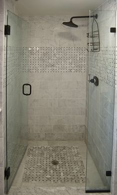 Shower door swing into shower (vs out)