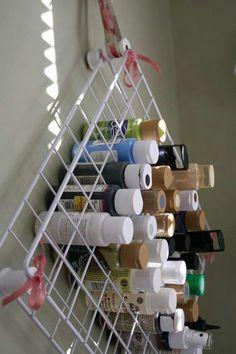 Creative acrylic paint bottle storage