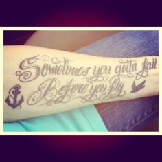 "my Sleeping With Sirens tattoo.❤ lyrics from their song ""Who Are You Now""."