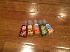 Hand sanitizers from Bath and Body Works.
