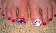 Baseball mom toes