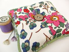 Pincushion made with Liberty of London fabrics by Very Berry Handmade, via Flickr
