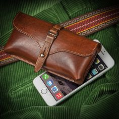 Made in America with Hand Selected American Steerhide — Large Smartphone Holster Hugs Your Hip for Easy Access!   $85.00