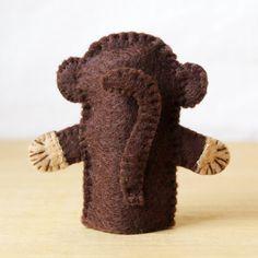 Felt finger puppet monkey animal puppet by KRFingerPuppets on Etsy