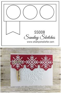 Sunday Sketches each Sunday on my Blog. Want ideas for layouts for your next card? There are over 52 layouts to choose from. www.stampstodiefor.com #cardsketch #cardtemplate #cardlayout