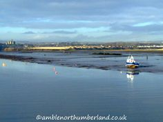 View towards Warkworth and its castle from Amble Harbour 16.12.12