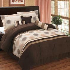 Coffee Brown, Beige And Taupe 7 Piece Micro Suede Comforter Set Linen Comforter, Bed Comforter Sets, Best Bedding Sets, Dorm Bedding, Comforters, Bed Linen, Bedspreads, Cosy Bedroom, Bedroom Decor