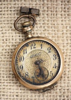 Warm patina..  pocket watch