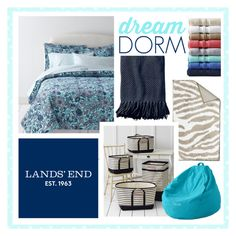 """""""Dream Dorm with Lands' End"""" by landsend ❤ liked on Polyvore featuring interior, interiors, interior design, home, home decor, interior decorating and Lands' End"""
