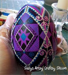 Gorgeous!! DIY Ukrainian Eggs! Beautiful to make and keep for year after year!