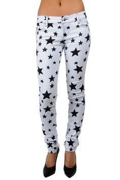Tripp NYC T Back Jeans Stars Print - TrashandVaudeville.com
