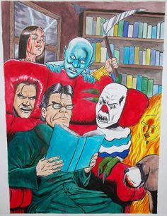 Stephen King Caricature by craigcermak.deviantart.com on @deviantART