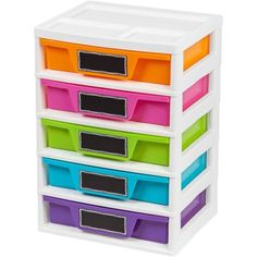 5 Drawer Storage and Organizer Chest, Assorted Colors