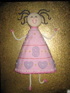 Dancing girl birthday cake