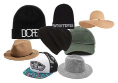 """Hats All Over"" by the-may-bae ❤ liked on Polyvore featuring Vans, Phase 3, rag & bone, Local Heroes, Eugenia Kim, women's clothing, women, female, woman and misses"