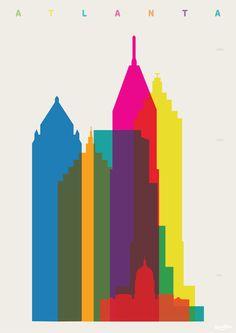 Tour Eiffel, Atlanta Art, Atlanta Georgia, Georgia Pacific, Atlanta Skyline, Georgia Usa, Florida Georgia, Scale Art, Cities