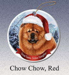 Chow Chow Red Howliday Dog Christmas Ornament