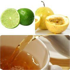 Chá gelado de erva-cidreira, frutas e mel
